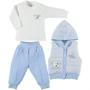 Civil Baby 3 Piece Set With Puffer Vest for Newborn Boys