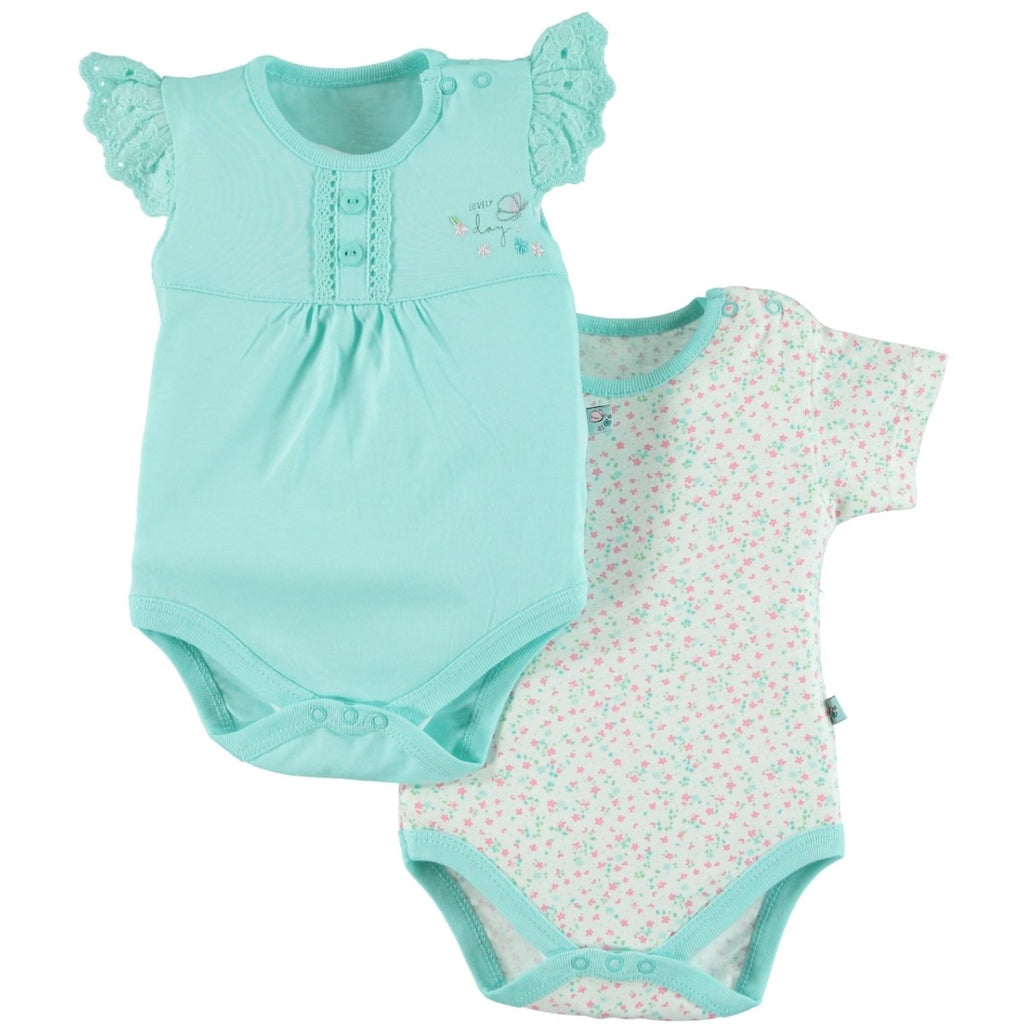 Babycool Lovely Day Printed 2 Piece Set for Newborn Girls