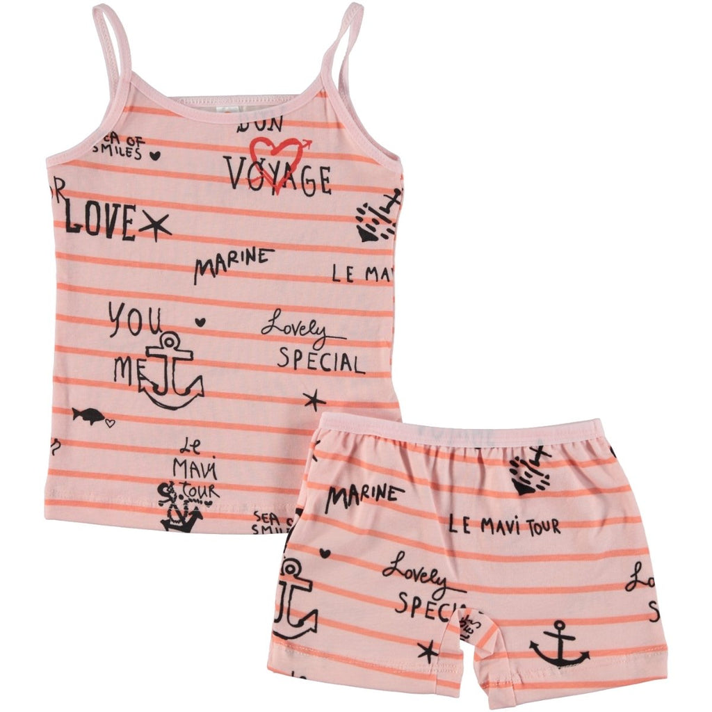 Civil Girls Striped Anchor Printed Underwear Set for Girls