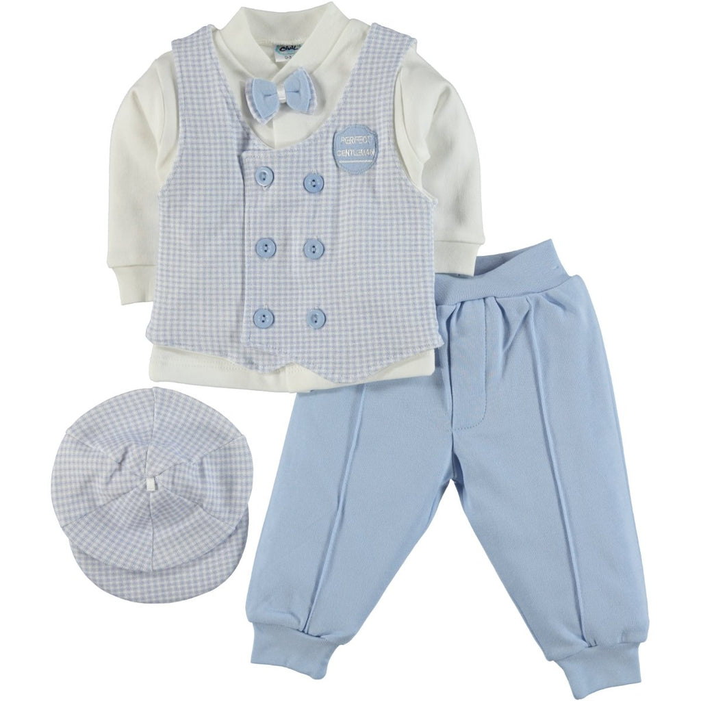 Civil Baby 4 Piece Set with Vest for Baby Boys