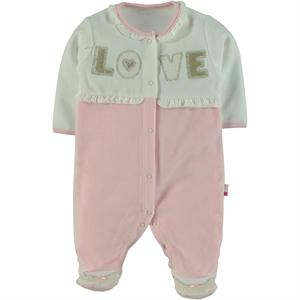 Babycenter Velvet Bodysuit with Feet for Newborn Girls