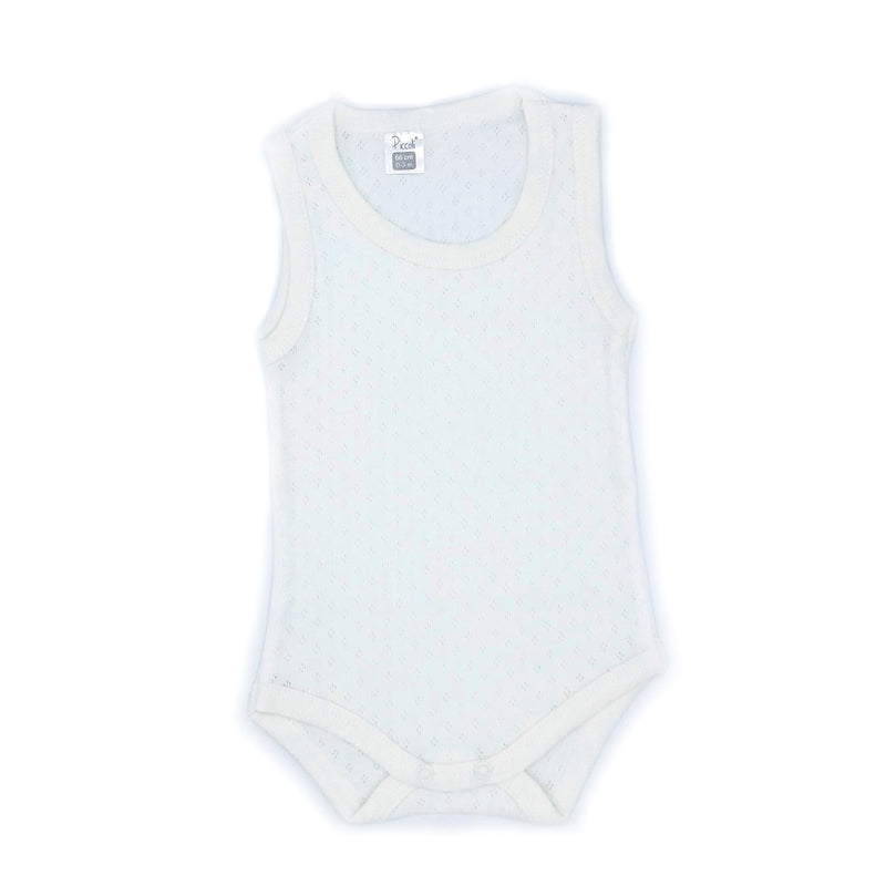 Piccolini Sleeveless Jacquard Bodysuit for Newborn Girls