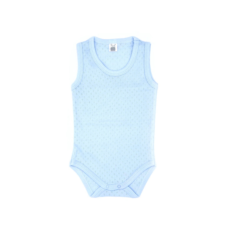 Piccolini Sleeveless Jacquard Bodysuit for Newborn Boys