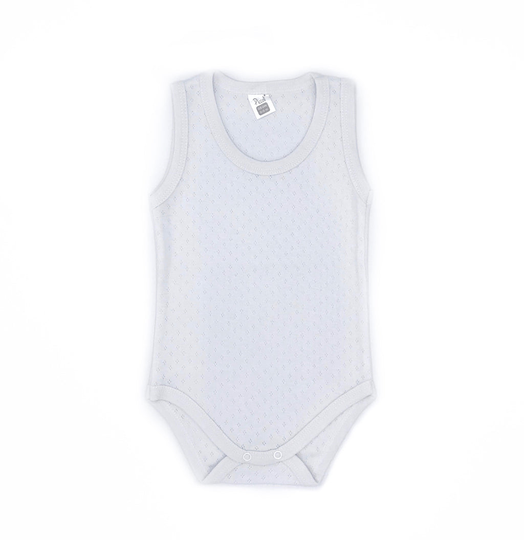 Piccolini Sleeveless Jacquard Bodysuit for Baby Boys