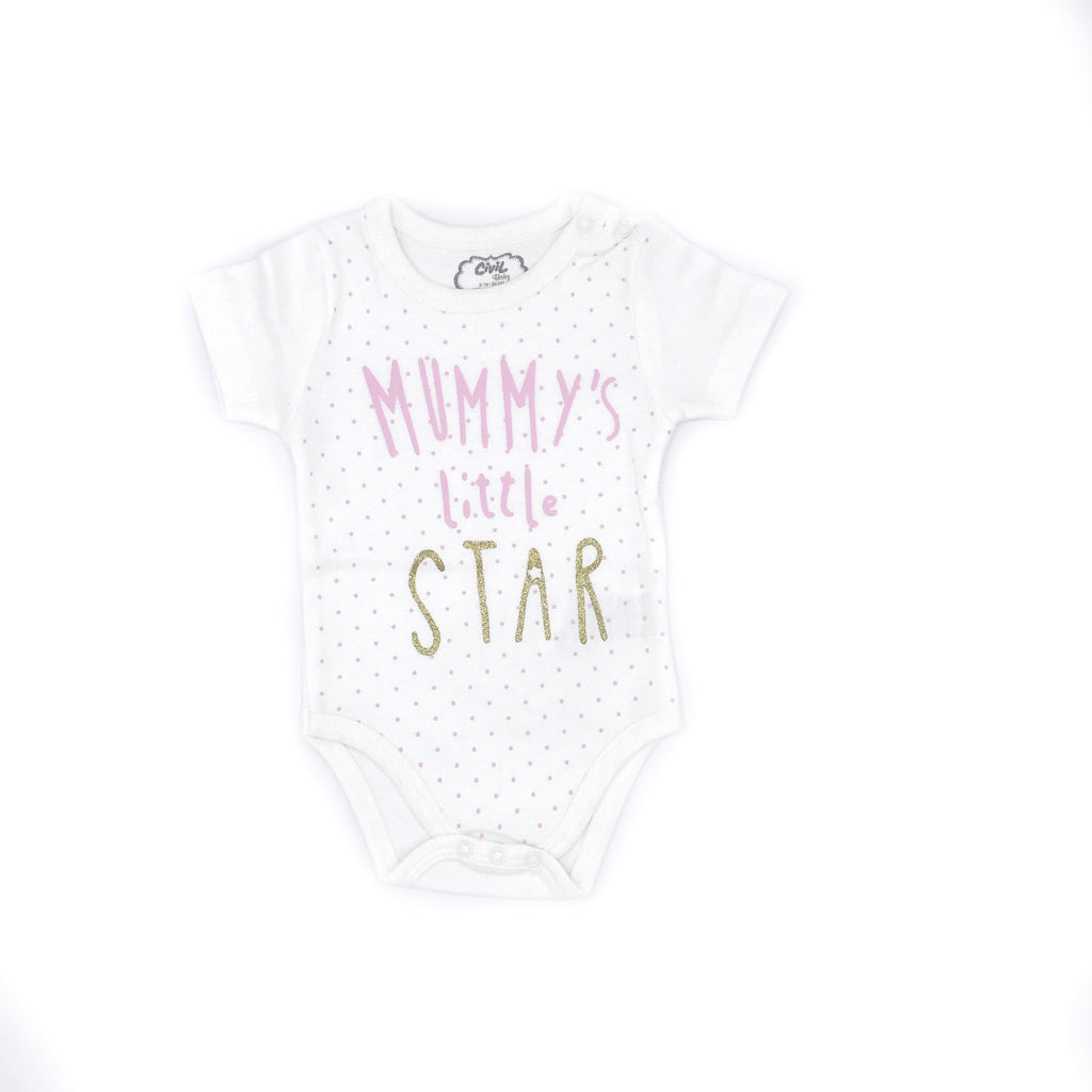 Civil Baby Girl Mummy'S Little Star Babysuit for Baby Girls