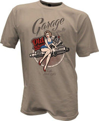 T-SHIRT PINUP GIRL ARMY GARAGE