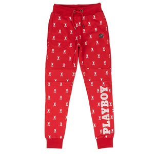 PHILIPP PLEIN x PLAYBOY Skull Bunny Print Jogging Sweatpants - Red