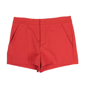 Satin Shorts - Red