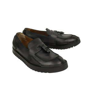 Leather 'Loafer Shoes - Black