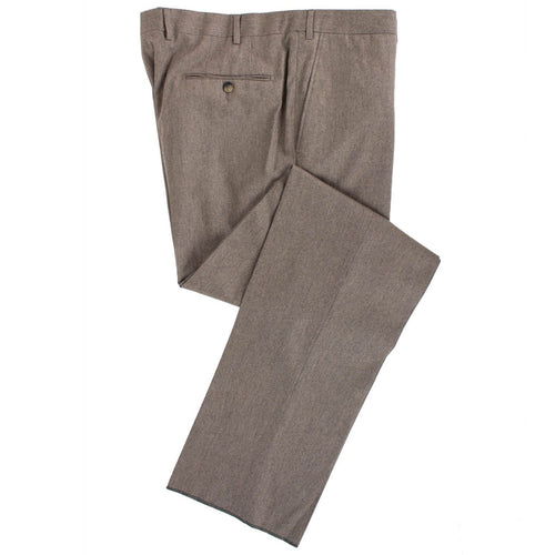 Brown Wool Blend Dress Pants