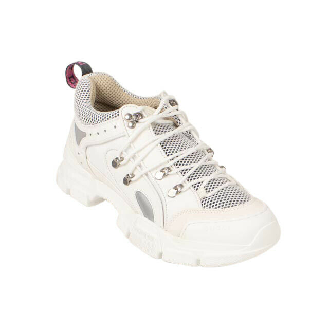 Leather 'Flashtrek' Hiking Sneakers - White
