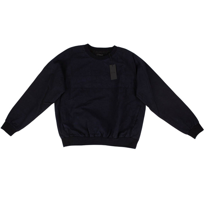 Cotton With Pockets Lined Pullover Sweater - Navy