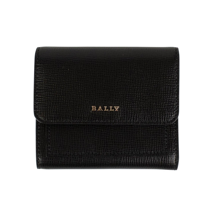 Calf Leather Bi-fold Snap Wallet - Black