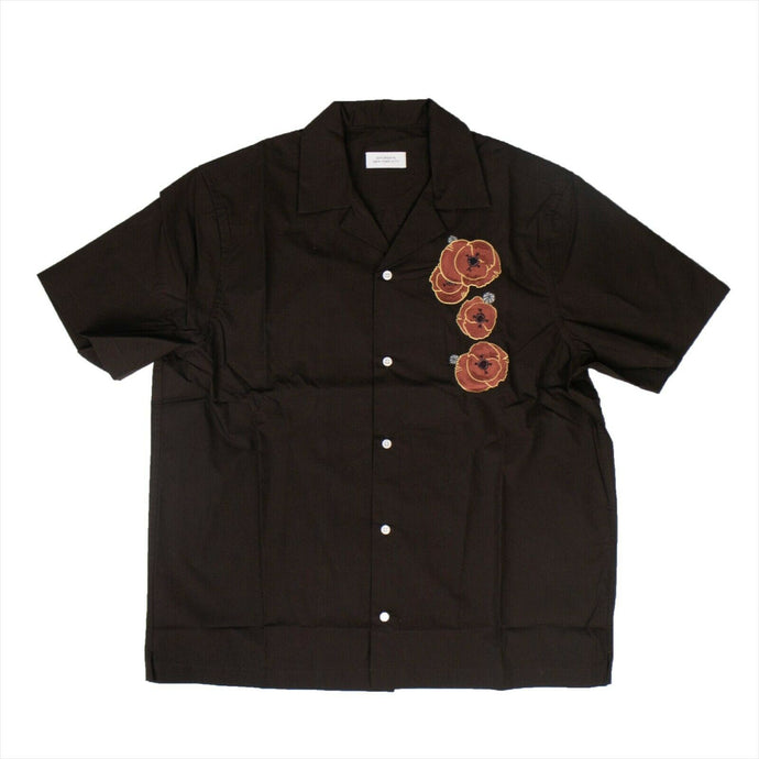 Canty Opium Short Sleeve Shirt - Carbon Brown