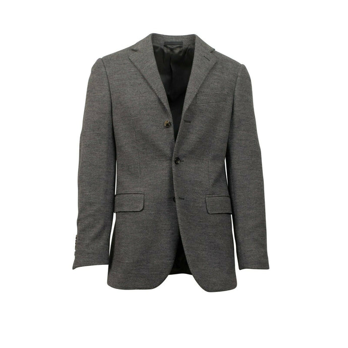 Drop 6 Polo 3 Roll 2 Button Wool Blend Sport Coat - Gray