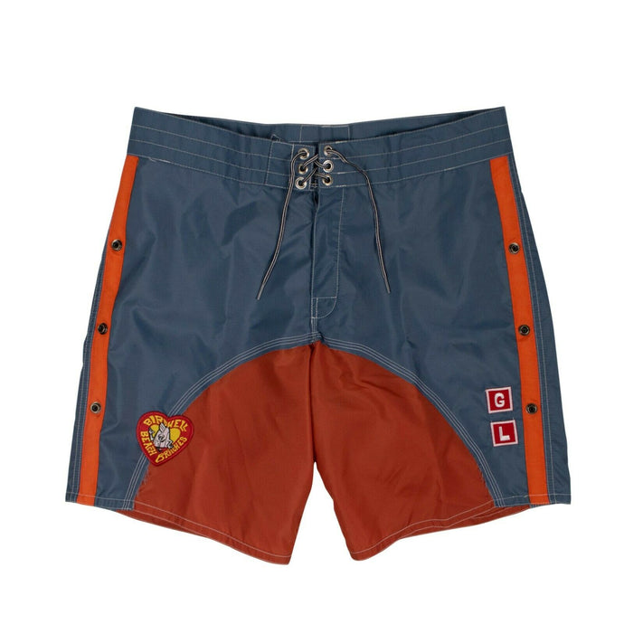 GREG LAUREN x BIRDWELL Nylon Swim Shorts - Blue And Orange
