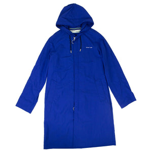 'Diag' Raincoat Jacket - Blue