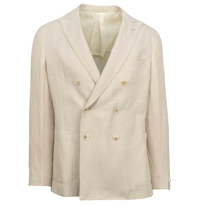 Drop 8 Linen Blend Double Breasted Sport Coat - Beige