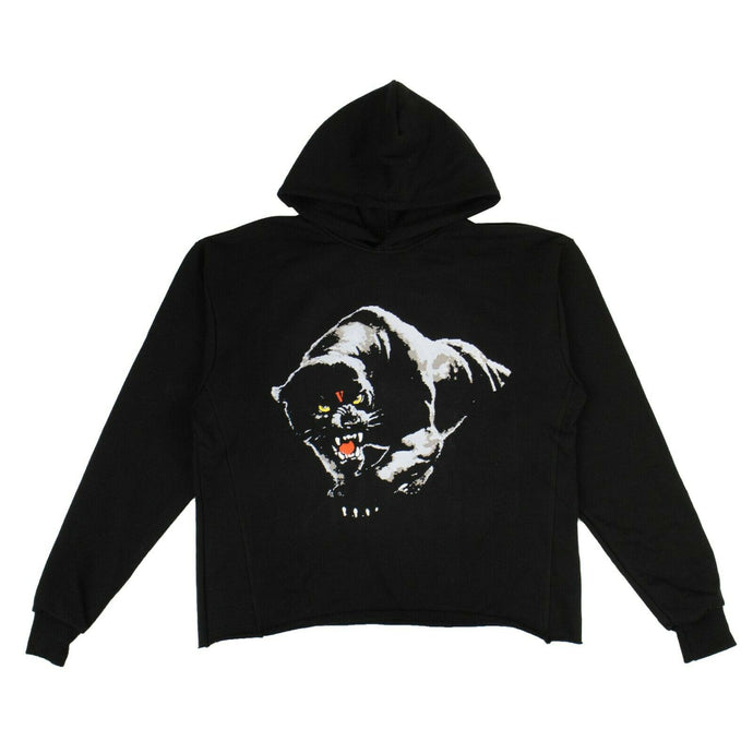 Panther Cotton Hoodie Sweatshirt - Black