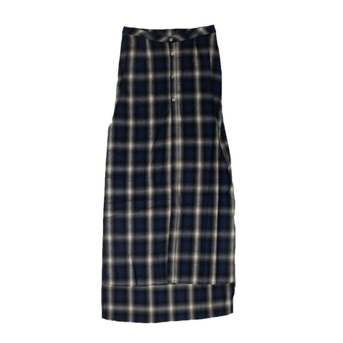 Cotton Flannel Skirt - Blue