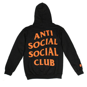 "Cotton ""Paranoid"" Hooded Sweatshirt - Black"