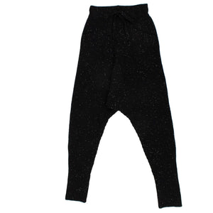 Cashmere Speckled Harem Pants - Black Galaxy