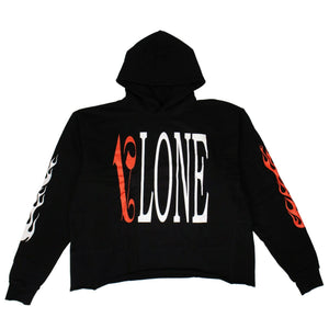 VLONE x PALM ANGELS Logo Hoodie Sweatshirt - Black/Red