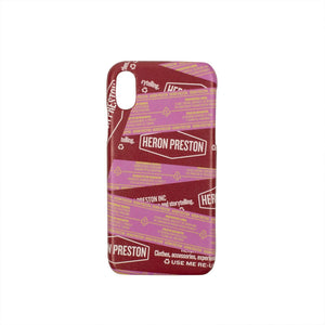 Logo Tape Design iPhone X Phone Case - Red