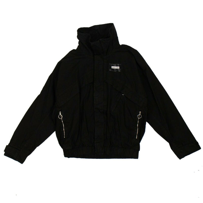 Cotton Logo Blouson Jacket - Black