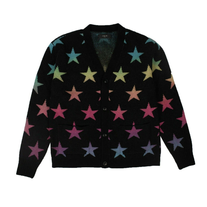 Cashmere Star Cardigan Sweater - Black