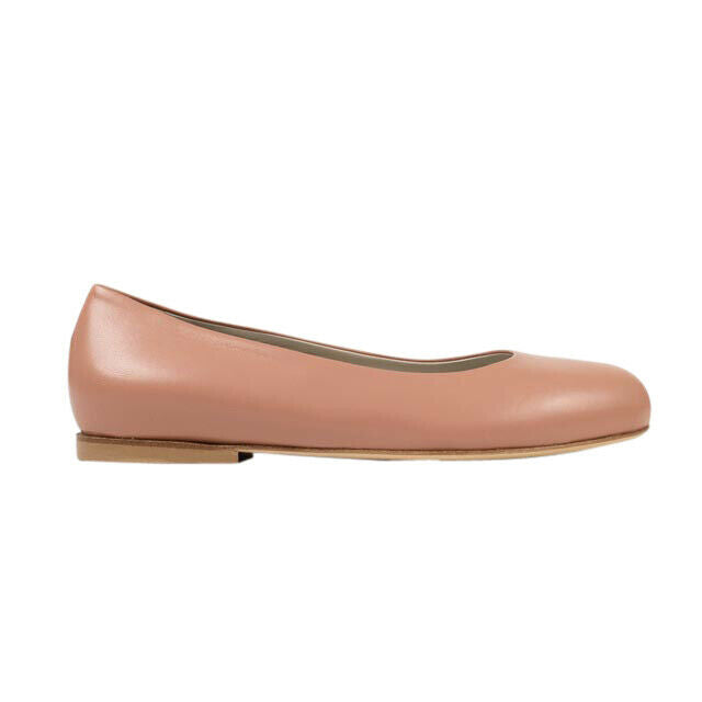 Leather Ballet Flats - Pink