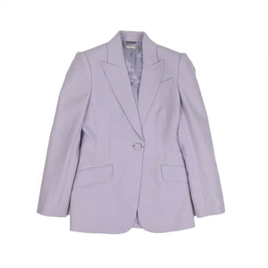 Peaked Lapel Tailored Jacket - Lilac