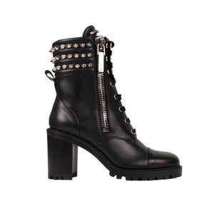 'Winter Spikes' 70 Bootie Heels - Black
