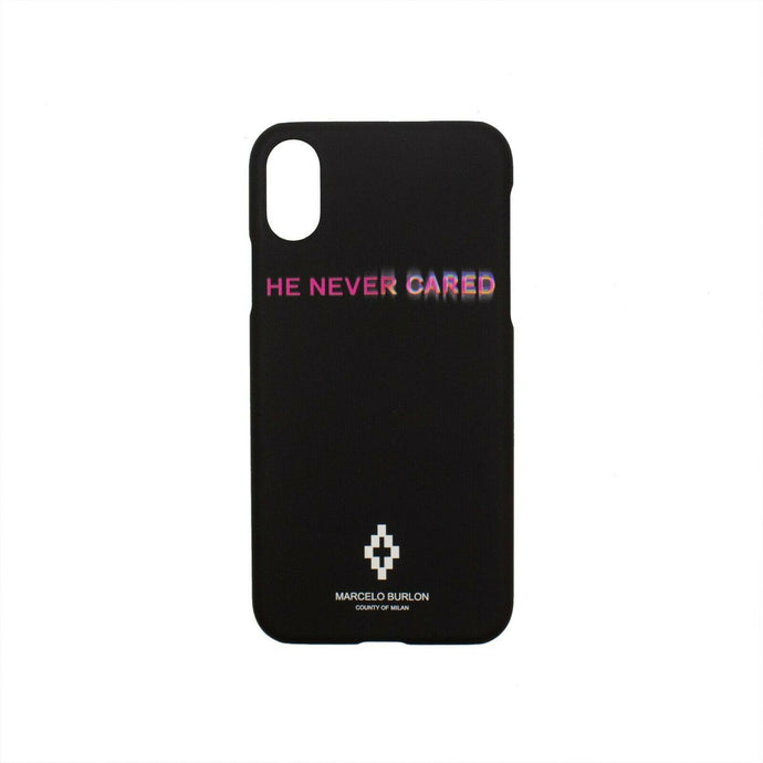 'He Never Cared' iPhone X Phone Case - Black