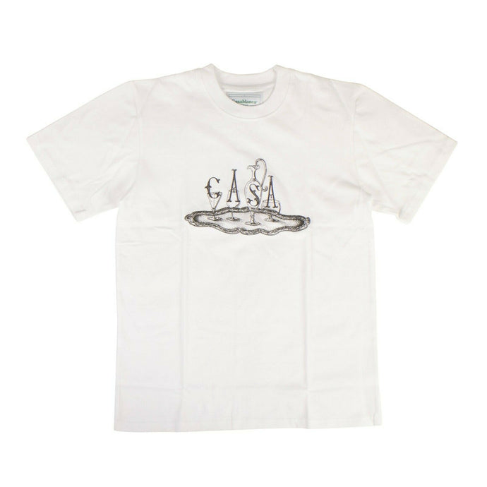 'Service Printed' Short Sleeves T-Shirt - White