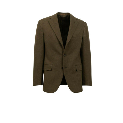 Drop 7 Cashmere 3 Roll 2 Button Sport Coat - Olive Green