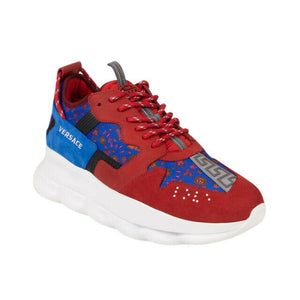 'Barocco' Chain Reaction Sneakers - Red/Blue