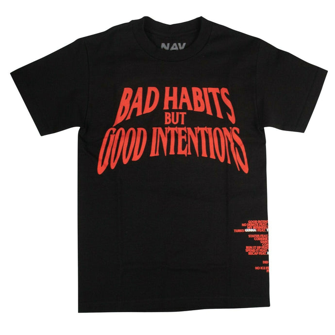VLONE x NAV 'Bad Habits Good Intentions' T-Shirt - Black