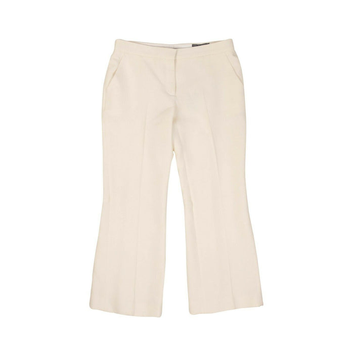Cropped Flared Pants - Ivory