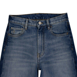 Denim Vintage Two-Tone Slim Jeans - Blue