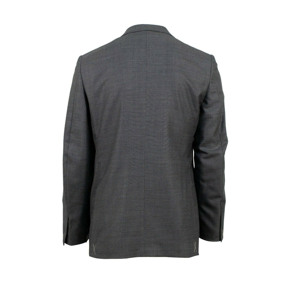Wool Blend Two Button Suit - Gray