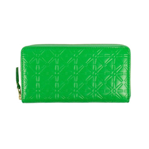 Leather Star Embossed Wallet - Green