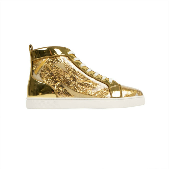 Men's Louis Orlato Gold Ruben Hi-Top Sneakers - Gold