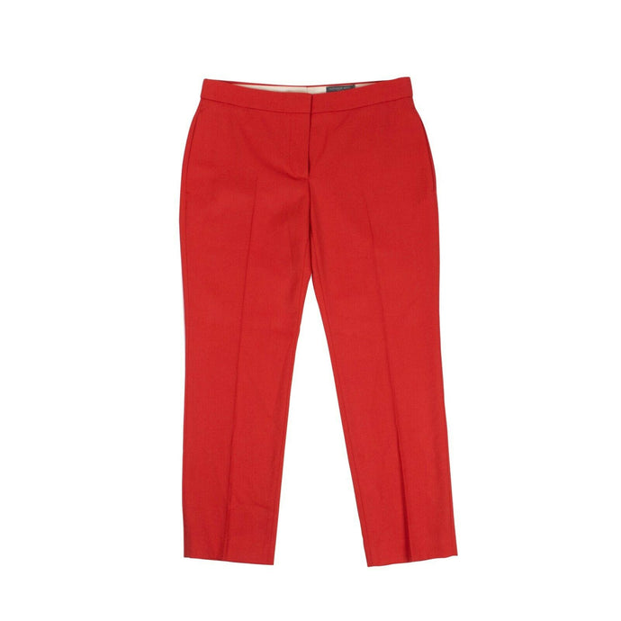 Cropped Tailored Pants - Red