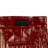 Patent Leather 'Callie' Bodycon Mini Skirt - Red