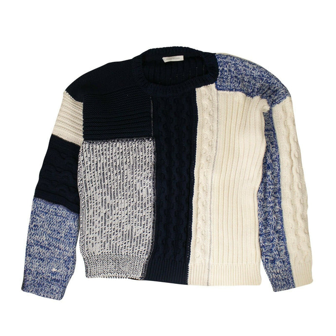 Cotton 'Knitwear Multi' Sweater - Blue And White