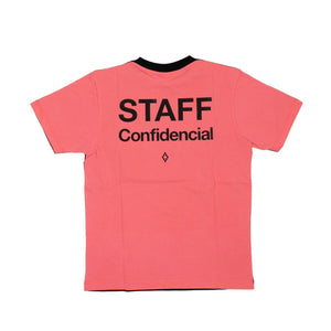 'Staff Confidencial' Short Sleeve T-Shirt - Black