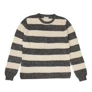 Cotton Lee Stripe Sweater - Ivory/Black