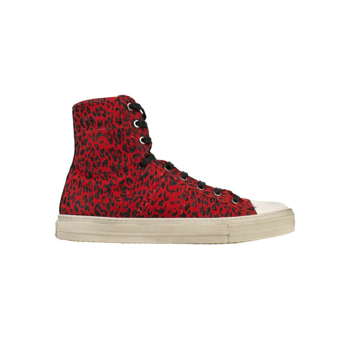 Leopard Print Vintage 'Sunset' Sneakers - Red
