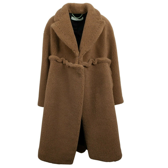 Over-Sized Shearling Coat - Brown